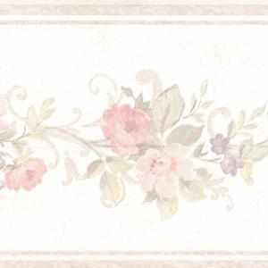 Lory Blush Floral Border 992B07560