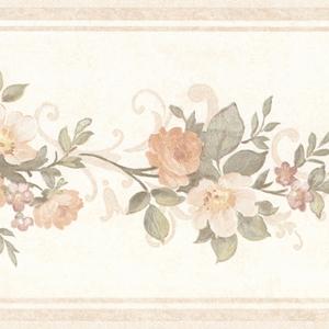 Lory Peach Floral Border 992B07564
