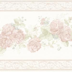 Tiff Pastel Satin Floral Border 992B07567