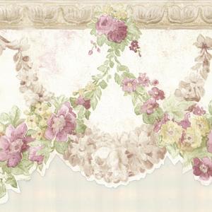 Marianne Mauve Floral Bough Border 992B07570