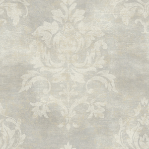 Asha Pewter Lotus Damask Wallpaper VIR98201