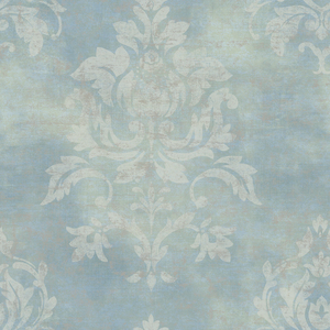 Asha Aquamarine Lotus Damask Wallpaper VIR98206