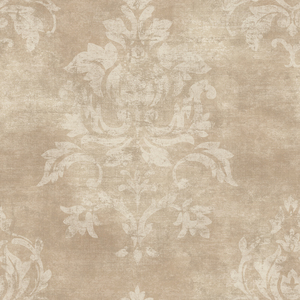 Asha Sand Lotus Damask Wallpaper VIR98207