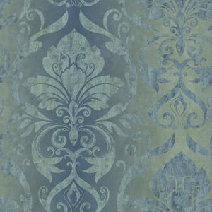 Lulu Ocean Smiling Damask Wallpaper VIR98211