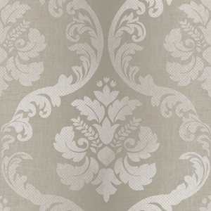 Delilah Wheat Tulip Damask Wallpaper VIR98222