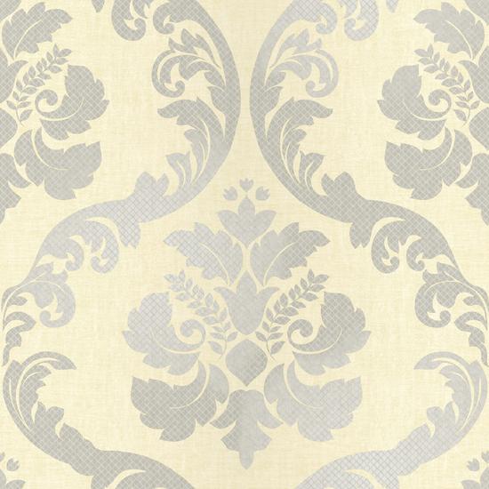 Delilah Cream Tulip Damask Wallpaper VIR98224