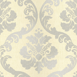 Delilah Cream Tulip Damask Wallpaper VIR98224