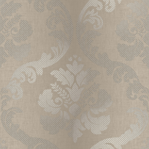 Delilah Brown Tulip Damask Wallpaper VIR98225