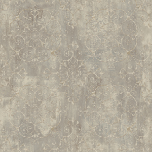 Aubrey Celery Crystal Medallion Texture Wallpaper VIR98231
