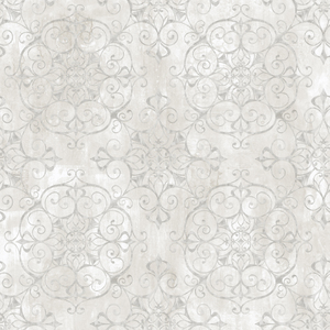 Aubrey Alabaster Crystal Medallion Texture Wallpaper VIR98232