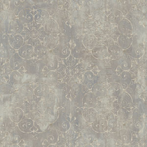 Aubrey Brown Crystal Medallion Texture Wallpaper VIR98233
