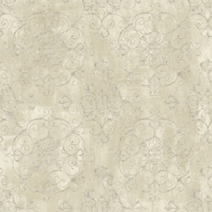 Aubrey Beige Crystal Medallion Texture Wallpaper VIR98234