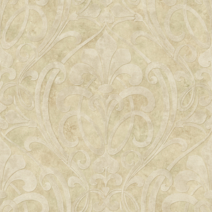 Zoe Sand Coco Damask Wallpaper VIR98263