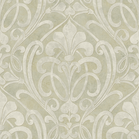 Zoe Olive Coco Damask Wallpaper VIR98264
