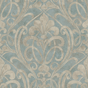 Zoe Ocean Coco Damask Wallpaper VIR98265