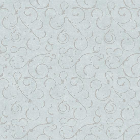 Shin Blue Golden Scroll Texture Wallpaper VIR98274