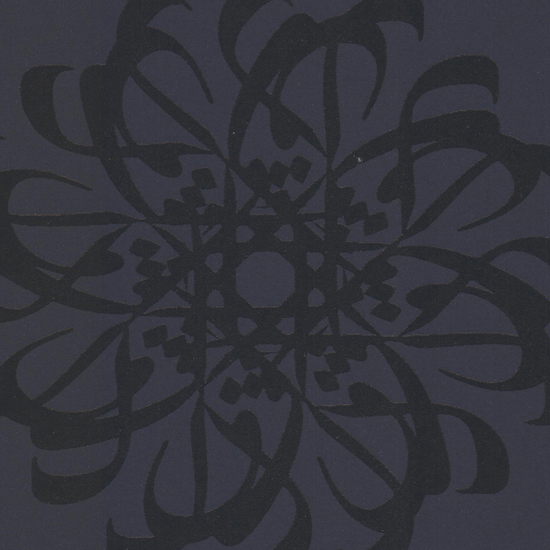 Hazar Afsan Black Modern Medallion 341783