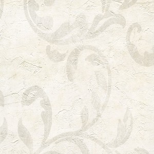 Plume Cream Modern Scroll Wallpaper WD3002
