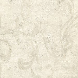 Plume Wheat Modern Scroll Wallpaper WD3012