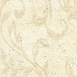 Plume Sand Modern Scroll Wallpaper WD3020