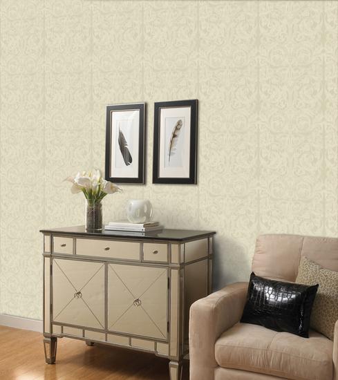 Flintley Birch Modern Swirled Damask Wallpaper WD3029