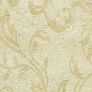 Plume Buttered Modern Scroll Wallpaper WD3040