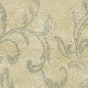 Plume Stone Modern Scroll Wallpaper WD3052