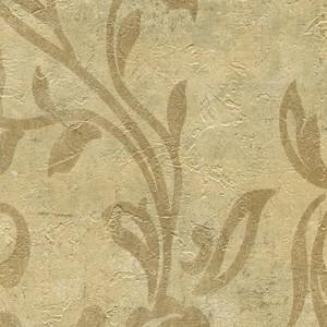 Plume Gold Modern Scroll Wallpaper WD3069