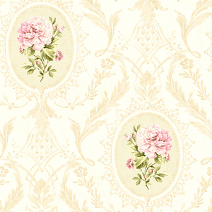 Eloisee Pink Cameo Damask CW20401