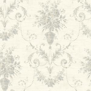 Calantha Slate Floral Urn Damask CW21508