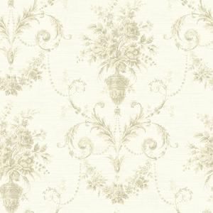 Calantha Cream Floral Urn Damask CW21518