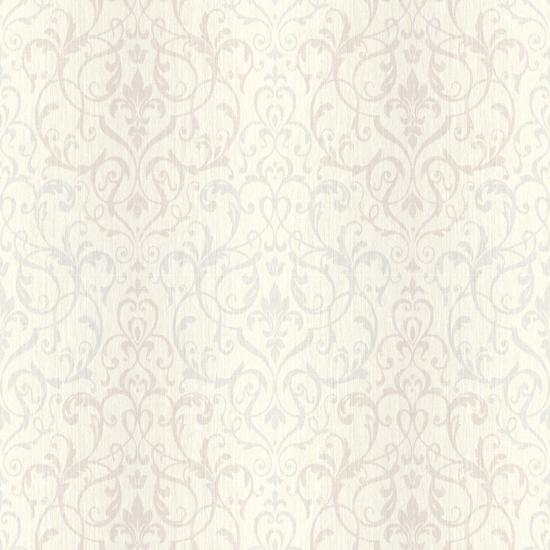 Beauvais Slate Scrolling Damask CW21600