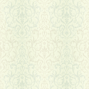 Beauvais Blue Scrolling Damask CW21602