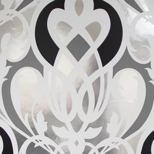 Sahrzad Silver Nouveau Damask 341723