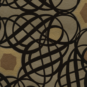 Caspian Brown Swirling Geometric 341730