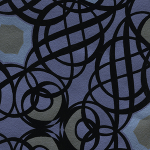 Caspian Blueberry Swirling Geometric 341731