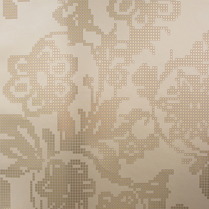 Sadira Brass Pixelated Modern Floral 341741