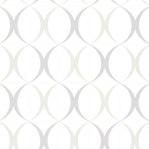 Circulate White Retro Orb Wallpaper 450-67352