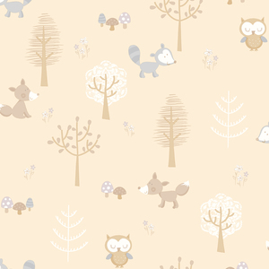Forest Friends Taupe Animal 2679-002108