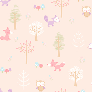 Forest Friends Pink Animal 2679-002109