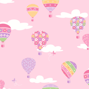 Hot Air Balloons Pink Balloons 2679-002114
