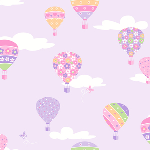 Hot Air Balloons Lilac Balloons 2679-002115