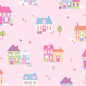 Happy Street Pink Houses 2679-002133