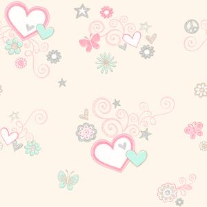 Heart Felt Beige Hearts 2679-002154