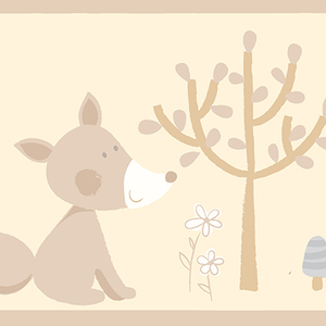 Happy Forest Friends Taupe Border 2679-50117