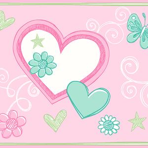 Heart Felt Doodle Green Border 2679-50122
