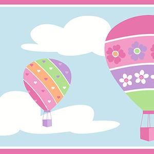 Balloons Blue Border 2679-50128