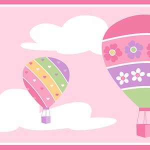 Balloons Pink Border 2679-50129
