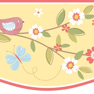 Bird House Village Honey Border 2679-50133
