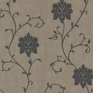 Dahli Pewter Floral Trail Wallpaper 450-58943
